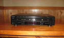 Sony 5 disc player and recorder. Can record or burn disc from any source. Excellent condition.