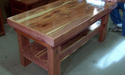 HAND MADE IN HEFLIN LA. CEDAR FURNITURE. COFFEE TABLES, CEDAR CHEST, JEWELRY BOXES, ENTERTAINMENT CENTERS, DOG HOUSES, DOLL OR DOG BEDS, BIRD HOUSES AND MORE. GREENWOOD FLEA MARKET BOOTHS 93 & 94 JUNE 4th AND 5th. BONNIE AND CLYDE TRADE DAYS. JUNE 17,18