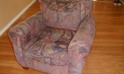 WELL USED CHAIR WHICH IS NEED OF REUPHOLSTERING