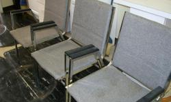 These would be great for a customer waiting area for a barber shop or other business. Please call -- to see or to purchase. There are 11 available.