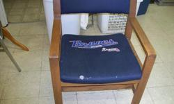 Nice wooden chairs. Great for hiome or business. Please call 6-- for info or to purchase. There are 2 avilable.