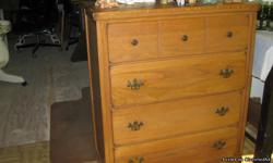 oak wood . one draw needs repair have 2 chests need $25.00 each