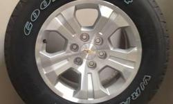 "CHEVY 18"" WHEELS WITH 265/65/18 GOODYEAR WRANGLERS! FLAWLESS!! ((($995)))   ALSO IN STOCK NEW AND USED WHEEL AND TIRE PULL OFFS FOR CHEVY TRUCKS,CAMARO,CORVETTE,FORD TRUCKS,MUSTANG,DODGE RAM,CHARGER,CHALLENGER,JEEP"