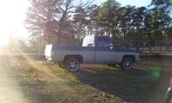 ALOT OF CUSTOM WORK DONE ON THIS TRUCK ! GRILLE,ROOL PAIN , TAIL GATE SHAVED , TAIL GATE HANDLE FLIPED KIT , DRIP RAILS SHAVED , DOOR HANDLES SHAVED , CUSTOM SEAT DASH , 20' RIMS AND TIRES , BILLET STEERING WHEEL, TOOL BOX BED LINER , 305 MOTER , AC , RAT