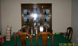 CHINA CABINET & HUTCH GREAT CONDITION CHINA CABINET LIGHTS UP CAN BE USED TOGETHER OR HUTCH CAN BE USED AS TV STAND OR EXTRA PIECE OF FURNITURE
