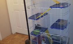 I have a 3yr. old male chinchilla for sale everything included. Asking $350, the cage alone was over $200 and is only maybe 6 months old. Items include: CHinchilla,6 level Cage, Food Dish, Glass water Bottle, Chinchilla Ball, hay ball