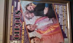 """Special Colloctor's Edition"" Circus weekly of the Beatles get back in a picture frame"