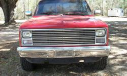 1987 Chevrolet Truck 90% Restored 4X4 Excellent condition 350 4 Bolt Main with 50K miles on motor New Auto transmission New limited slip positive traction rear end New Paint New wheels and tires To many options to list, have to see to appreciate, call for