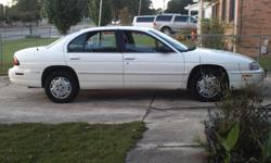 2001 Chevy Lumina white with grey interior. New tire, battery recent oil change. 150,000 miles. Good on gas. Needs the back windshield replaced. Automatic ,AC,PW,PS,PB.