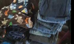 I HAVE CHILDRENS JEANS FROM SIZES 6 THRU 8...SOME ARE 6 SLIM.. BRAND NAME ARIZONA....LEE ....FADED GLORY..VERY NICE SHAPE ALSO PAJAMAS ( 3T ) ...SOME SHIRTS ( 5 THRU 8 )....ALSO OTHER SIZES PANTS SHORTS 1.00 EACH ALSO HAVE SOME ADULT CLOTHING 1.00 AND