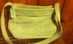 light blue suede coach bag,good cond,