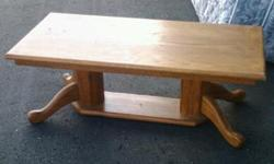 Wooden coffe table. Please call richard at --
