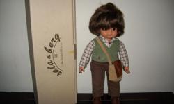 Wooden boy doll/ in box.