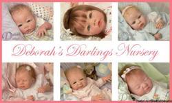 Handpainted collectible lifelike baby dolls. http://www.deborahsdarlings.com