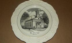This is a Collector Plate made by Tatler of Trenton. It depicts the Original First Baptist of New Market, founded 1852. It comes with the original display stand, and both are in excellent condition. Payment to be via PayPAl. Buyer to pay actual shipping