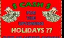 Get the cash you need NOW by starting an affordable and easy to start home business that can get the cash for you! Get the details on just how easy and affordable this is & how it will work for you by clicking >>> HERE