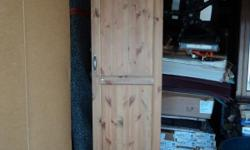Country Old Pine Storage Cabinet - 4 units available - $ 125.00 Each or all four for $ 400.00, hang clothes, storage your boots other equipment, Can be built into the wall as set of cabinet to finish your mud room or Storage room. If you are interested in