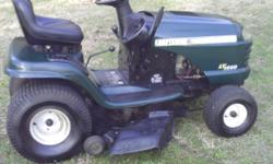 "I HAVE A CRAFTSMAN 42"" CUT LAWN MOTOR 18 HP MOTOR TWIN CYLENDERS AS IS RUN GOOD CUTS GOOD FOR INFO CALL DOUG AT # 843-365-1048"