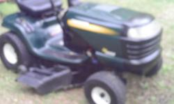 I HAVE A CRAFTSMAN LAWN TRACTOR MOWER HEAVY DUTY 12 GAGE STEEL DECK 15.5 HP MOTOR AS IS RUN GOOD CUT GOOD FOR INFO CALL DOUG @ # 843-365-1048