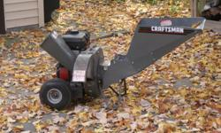 Used Craftsman 5HP Chipper/Shredder.  It is in Very Good Condition and will start on 1st or 2nd pull.  Has original owners manual.  You get exactly what is in the pictures.  Thanks For Looking!
