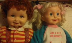 "1986 PLAYMATES CRICKET AND CORKEY BOTH DOLLS ""TALKS, TELLS STORIES, LAUGHS AND SINGS. MOUTH AND EYES MOVE . TAPE INCLUDED WITH CRICKET. EMAIL ME AT jejmej1@yahoo.com or 713-868-9500"