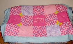 Custom Hand-made quilts are made when you order. Pricing depends on size and design. They are great for any occasion. Wedding, anniversaries, birthdays, babies, graduations, and more! Each quilt is done completely by hand. You can pick out each detail and