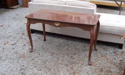 """This listing is for a small desk with queen Anne legs. It would be nice for a girl's room. It's in good solid condition, no loose glue joints. The dimensions are: 48""""w x 24""""d x 28""""h. This item is located in Carthage. Interested? Call Mark at --"""