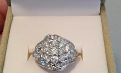 3ctw diamond ring in 10kt white gold. Originally $3200 selling for $2200. Brand new in box. Size 8.