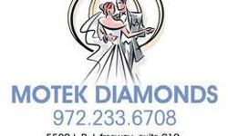 Wholesale Diamonds in Dallas with Motek Diamonds  Custom Diamond Rings and Engagement Rings at Wholesale Prices  We are located at:5580 Lyndon B Johnson Freeway Suite 610Dallas, Texas 75240  http://www.motekdiamonds.com/