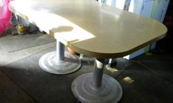 Diner style kitchen table Sturdy, easy to keep clean...seats approx 6 $$ 50.00 or First Best offer $$ email me at jerseybrat611@yahoo.com