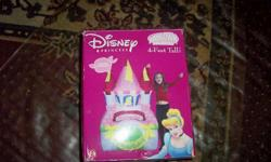 lots of accessories comes with excellent like new great deal great for girl or and boy kitchen disney princess is 30.00 castle 20.00 not open