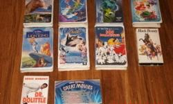 I have Disney movies in a Perfect conditions and you can use it over again. or for your kids ages 4 and 14 years old. . They are 21 movies each of them 4.50 you can have it $1oo.