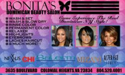 We specialize in African American Hair and promoting healthy hair! We use the best quality products... Our services include: * Wash and Set * Hair cut for Men and Women * Hair coloring and highlights * Brazilian Keratin treatment * Extensions sewed and
