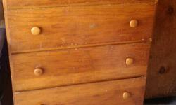 Five drawer wooden dresser. Call Richard at --