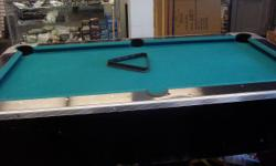 This is a pool table by Dynamo. It includes 2 pool sticks, the rack, diamond and set of pool balls. Pictures are of the actual item. Asking for $999.99 OBO. Feel free to stop by or give us a call with and questions.  Tri City Trading LLC. 23 Main