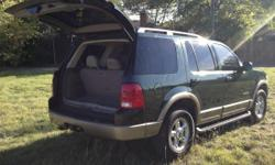 If you are looking for a nice looking, reliable/sturdy, and safe SUV for your teen or for your entire family, this 2002 Ford Explorer V6, Eddie Bauer Edition is the perfect vehicle for you! Forrest Green with luxury tan leather interior, 3 rows, ( 8 seat