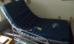 Electric Hospital Bed. Retail for $1650.00 Great buy at $550.00. Works like new, in great shape. Brand new foam mattress. Rails on both sides. Need to Sale. If you don't like the price, make an offer. Will throw in quilted comforter and sham. Uses twin