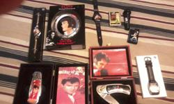 Got elvis stuff for sale only putting up a few pictures...i want $175.00 for what i have showing but sale the stuff separate just call and i'll work a price out with you...i have the 3 lighters, the 2 knives, 3 watches, and 1 ornament...but here at home i