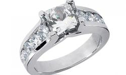 Great Deals on Bridal Jewelry, Unique Engagement Diamond Rings and Wedding Rings from New York City. Shop confidently with that IB Guarantee. Product Description Fall in love with this beautiful 1.25 carat princess cut diamond engagement ring with 0.88