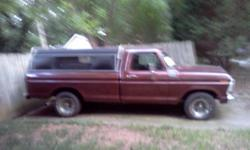 Hello I have a ford Truck for sale it need a paint job it has 12,000 miles on rebuilt engine 302v 8 and 79,000 on truck. Call 704-532-1295.