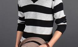 http://www.victoriasfashiononlinestore.com Price: 24.99 + shipping Fashion Men's Sweater-Blk & Gray Stripped Available size: Medium, Large, XL, XXL (U.S size fit). This Mens Sweater is made from quality materials of China made of cotton and woolen