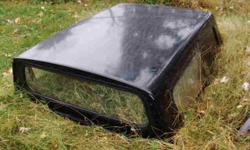 ARE Brand. Fits Small Truck. Black. All Glass Intact. Local Pick Up Only. Mayfield, KY