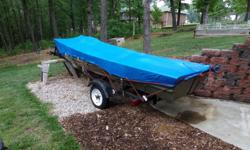 2008 Tracker aluminum 14 foot fishing boat with a 15 horse Gamefisher, completly reconditioned last year at Top Gun Marine, With a custom trailer. This is a second boat and been used very little, only in the water one time last year. I keep it
