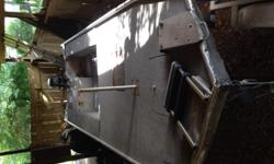 """16' flat bottom boat 48"""" bottom width with a 25 HP Yamaha motor , and trailer"""