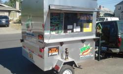 Oregon licensed special trailer 6? X 6? Stainless steel hot dog trailer Features · Propane fired · 120 Volt overhead exhaust fan ? 2 speed, with light