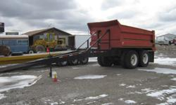 1988 FORD 9000 DUMP TRUCK WITH PUP, 350 BCIV, 13 SPEED, 15' BOX, AIR & JUICE, PINTLE HITCH, WITH 2-AXLE PUP LONG TONGUE WAS ASKING $16,000 FOR BOTH NOW ASKING $12,500 OR WE CAN SEPARATE PLEASE CALL 208-406-6357 BOYD OR 208-406-8953 BERT (FOB BLACKFOOT