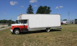 1988 GMC box truck, new GAS motor(40,000 miles) manual transmission 20' plus aluminum box dry-no leaks. New rear tires, new front shocks, new carrier bearing , new battery, updated electrical, runs great this is an old u-haul , has loading ramp.
