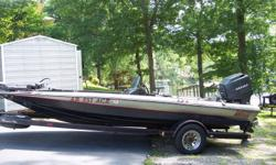 """For Sale by Owner one 1990 Pro Staff MGI 18' 5"""" Bass Boat with a 150 H.P. Mariner Moter. Boat, trailer and motor in excellent conditions with little wear to boat interior, low hours on the outboard motor. Inever abused the equipment."""