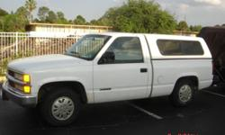 FOR SALE 1994 CHEVY TRUCK W/CAMPER SHELL AND CARPET KIT. VERY LOW MILEAGE 129,000. LOOKS AND RUNS PERFECT. NO PROBLEMS. NEW TIRES. MUST SELL FAST, HAVE CURRENT TITLE, EMAIL OR CALL 417-300-0790 Read more: