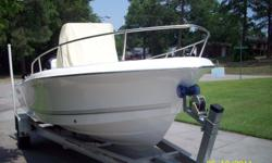 """2008 SEA PRO BOAT/ WESCO TRAILER/ 150-4 STROKE MERCURY ENGINE/ BAYSTAR HYDRAULLIC STEERING 19'6"""" LENGTH, CENTER CONSOLE, DEPTH FINDER, RAW WATER WASHDOWN, AM/FM/CD, SHIP/SHORE RADIO, LIVE WELL, COOLERS IN BOW & SEAT, BIMINI TOP, BOW &CONSOLE COVERS,"""